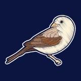 双翼飞机 刺绣 fachion补丁徽章 库存例证