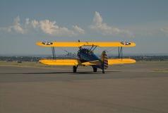 双翼飞机 库存照片
