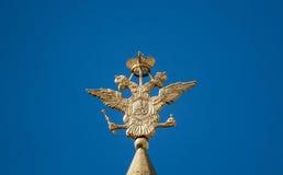 双老鹰朝向俄语 免版税库存图片