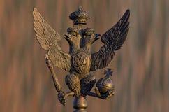 双老鹰朝向俄语 库存照片