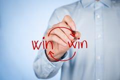 双赢的战略 免版税库存照片