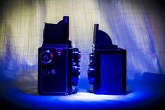 双透镜反光照相机 库存照片