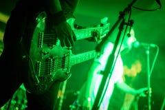 双重吉他 图库摄影