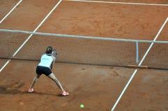 双重女子网球比赛 库存照片