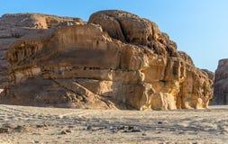 双重峡谷砂岩山 库存图片