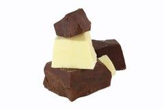 双重巧克力 库存图片