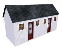 双重房子一点 免版税图库摄影