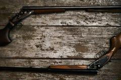 双重桶狩猎枪 库存图片