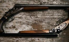 双重桶狩猎枪 库存照片