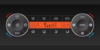 双重空气情况仪表板设计 免版税库存图片