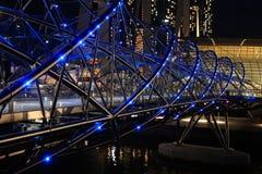 双重螺旋桥梁在新加坡 图库摄影
