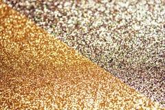 双重金黄发光的背景 免版税库存图片