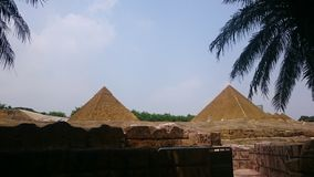 双金字塔 库存图片