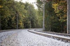双铁路轨道 图库摄影