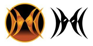 双鱼座符号黄道带 免版税库存照片