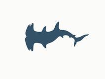 双髻鲨商标 免版税库存图片