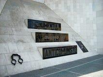 反共产主义的纪念碑 库存照片