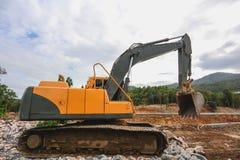反向铲或挖掘机 库存图片