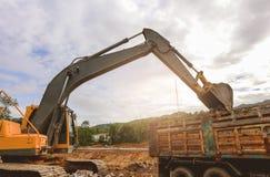 反向铲或挖掘机 免版税库存图片
