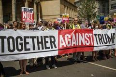 反唐纳德・川普集会在中央伦敦 库存图片