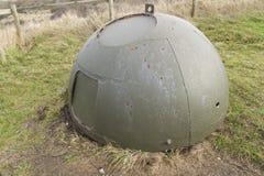 反坦克立方体,石第二次世界大战入侵沿海防御。 免版税库存照片