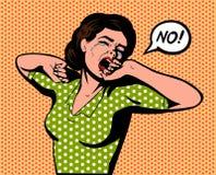 反复无常的妇女说不 免版税库存照片