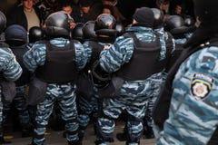 反对乌克兰的政府的拒绝的群众抗议 图库摄影