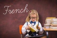 反对书桌的法语 免版税库存图片