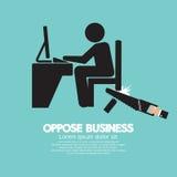 反对企业黑标志 免版税图库摄影