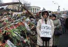 反对克里米亚的俄国入侵的抗议。 免版税库存照片