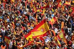 反对加泰罗尼亚的独立的抗议 免版税库存图片