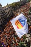 反对加泰罗尼亚的独立的抗议 库存图片