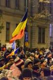 2017 - 反对囚犯体谅计划的罗马尼亚人抗议 布拉索夫, 库存图片