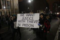反对囚犯体谅计划的罗马尼亚人抗议 库存照片