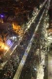 反对囚犯体谅计划的罗马尼亚人抗议 免版税库存图片