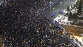 反对囚犯体谅计划的罗马尼亚人抗议 免版税库存照片
