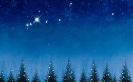 反对夜背景的概念性圣诞树 皇族释放例证