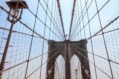 反对天空的布鲁克林大桥 免版税库存照片