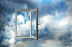 反对天空的开窗口 库存照片