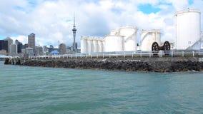 反对奥克兰地平线新西兰的大容量存储器终端 股票视频