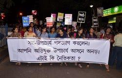 反对学生攻击的抗议 免版税库存图片