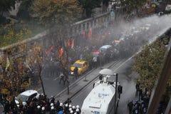 反对库尔德国会议事程序专家拘捕的抗议  库存照片
