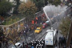 反对库尔德国会议事程序专家拘捕的抗议  免版税库存图片