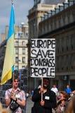 反对战争的抗议显示在乌克兰 图库摄影