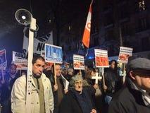 反对放弃,巴塞罗那, 12月28日天主教徒的3月前进反对放弃 库存照片