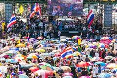 反对政府腐败的泰国的抗议。 库存图片