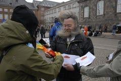 反对政府INFRONT议会的抗议 库存图片