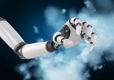 反对数位引起的背景的机器人手 向量例证