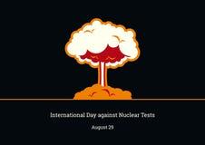 反对核试验传染媒介的国际天 免版税图库摄影