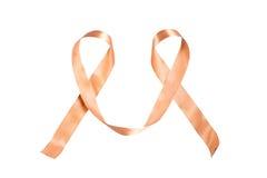 反对癌症丝带的世界天 免版税库存照片